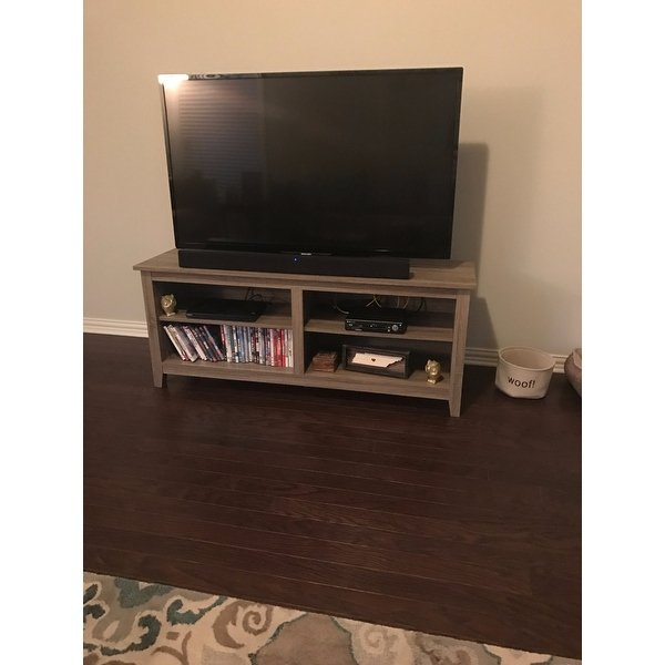 Current Abbott Driftwood 60 Inch Tv Stands Within Shop Porch & Den Dexter 58 Inch Driftwood Tv Stand – Free Shipping (Image 6 of 25)
