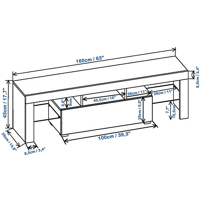 Current Combs 63 Inch Tv Stands Intended For Buy Generic Living Room Tv Stand With Led Lighting System Up To (View 16 of 25)