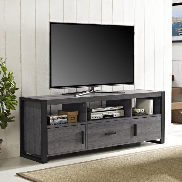 "Current Edwin Grey 64 Inch Tv Stands With Regard To Angelo:home Tv Stand For Tvs Up To 65"" & Reviews (View 3 of 25)"
