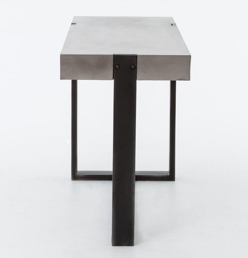 Current Parsons Concrete Top & Dark Steel Base 48X16 Console Tables Within Concrete Top Console Table Monumental Parsons Dark Steel Base 48X (View 7 of 25)