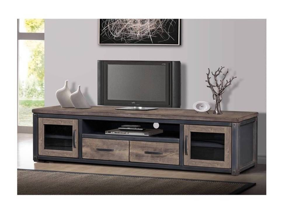 Current Rustic Furniture Tv Stands With Rustic Entertainment Center Tv Stand Console Storage Media Farmhouse (Image 3 of 25)