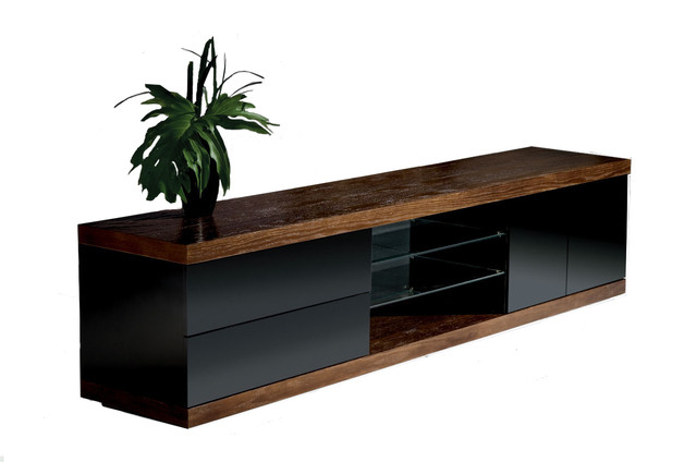 """Current Slim Tv Stands For Hector Slim Tv Stand, 79"""" – Contemporary – Entertainment Centers And (Image 8 of 25)"""