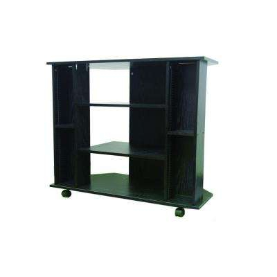 Current Small Tv Stands On Wheels For Wheels – Black – Tv Stands – Living Room Furniture – The Home Depot (Photo 11 of 25)