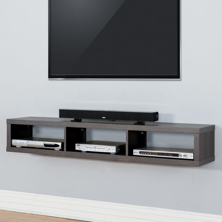 Current Wall Mounted Tv Racks Pertaining To Martin Furniture Shallow Wall Mounted Tv Shelf – Small Entertainment (View 5 of 25)