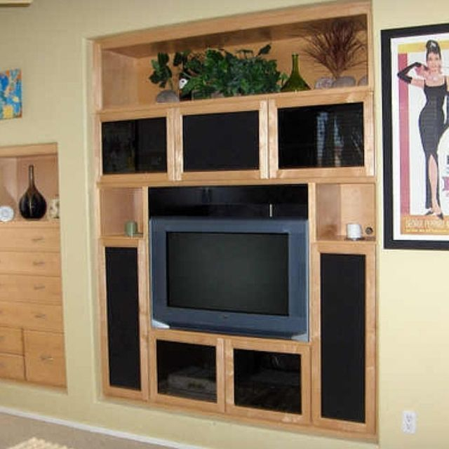 Custom Built Wall Units & Custom Made Built In Tv Wall Units With Famous Murphy 72 Inch Tv Stands (Image 6 of 25)