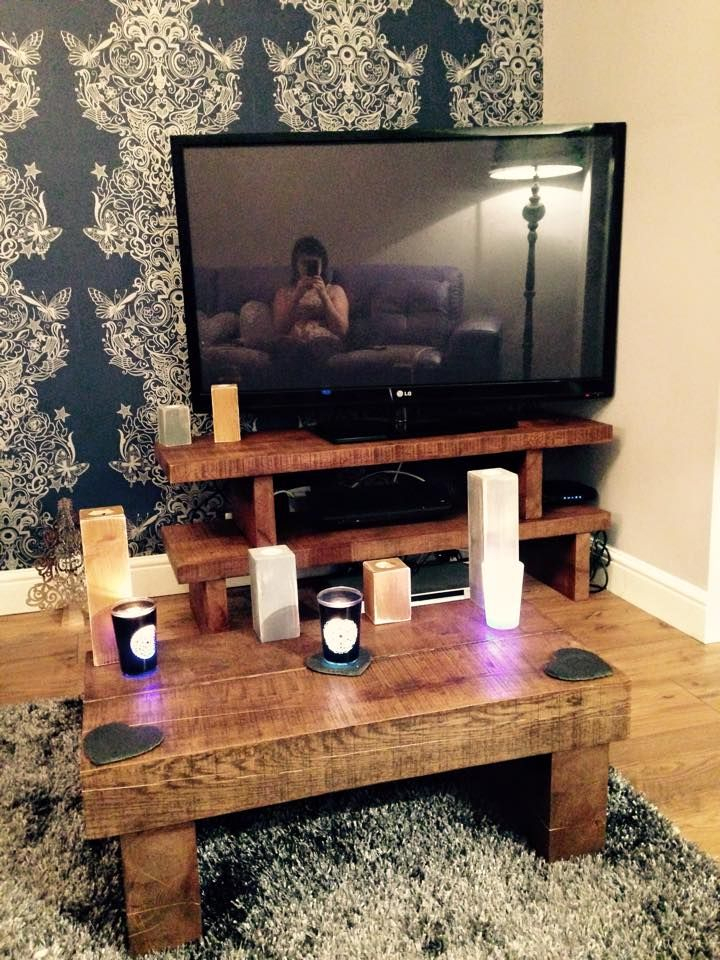 Customer Order Solid Oak Tv Stand, Matching Coffee Table And Candle Inside Most Recent Coffee Tables And Tv Stands Matching (Image 8 of 25)