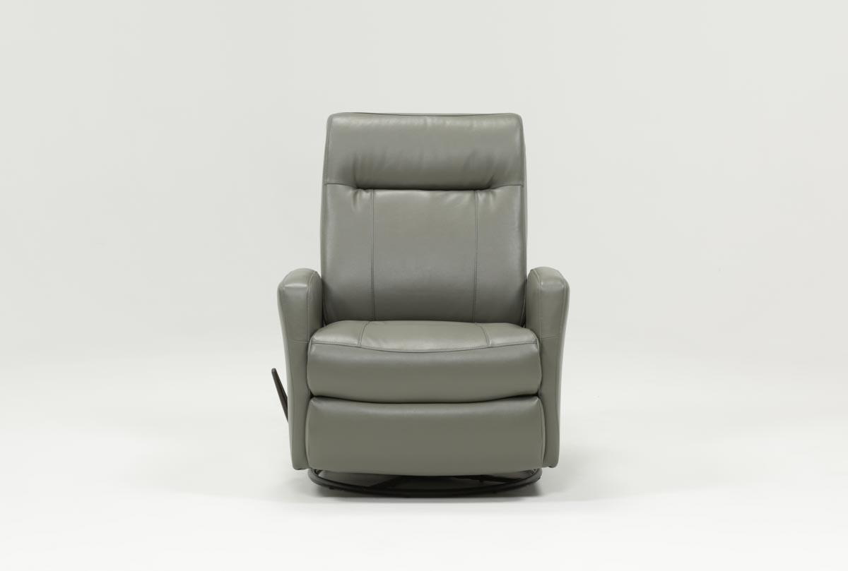 Dale Iii Polyurethane Swivel Glider Recliner | Living Spaces intended for Dale Iii Polyurethane Swivel Glider Recliners