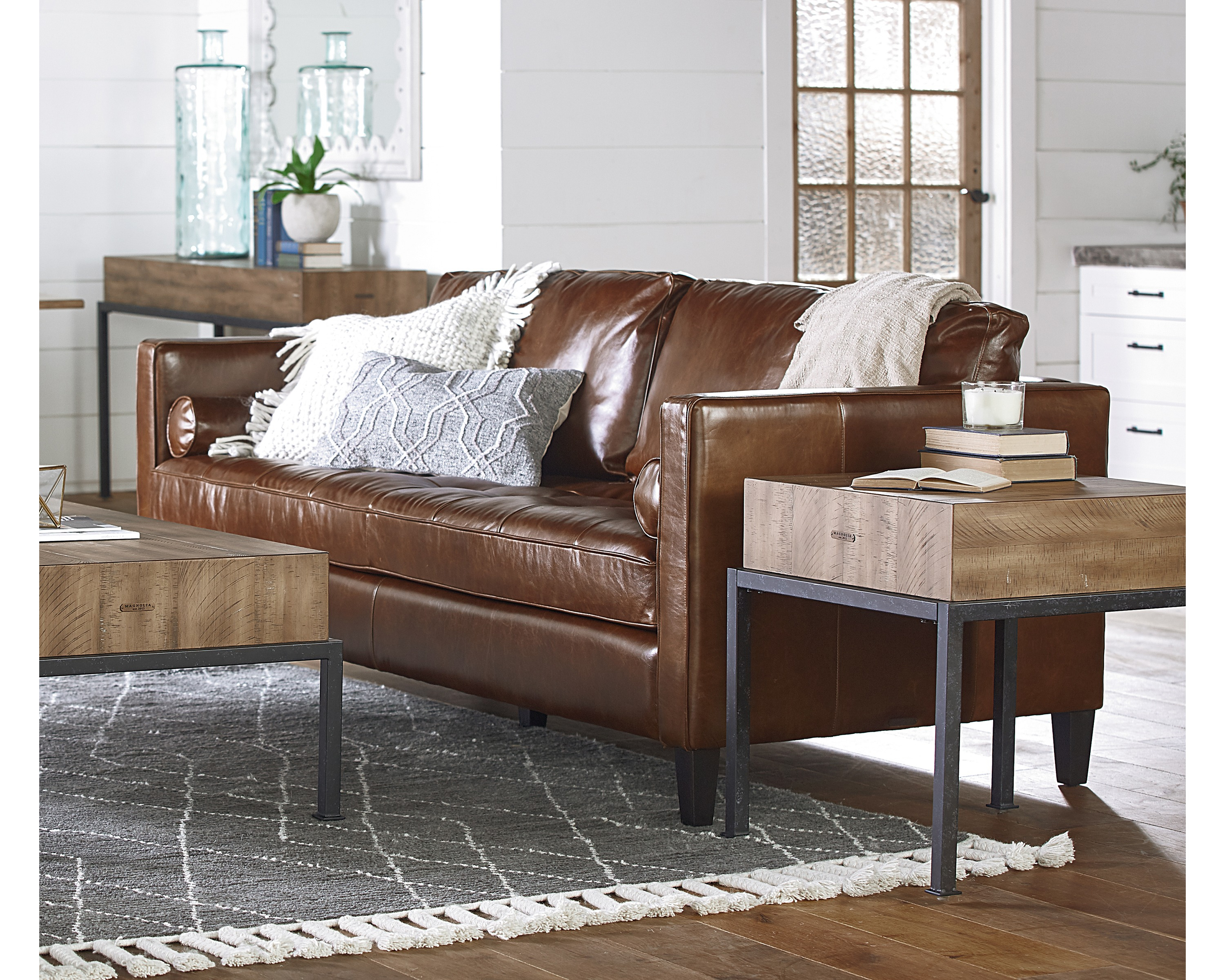 Dapper Sofa - Magnolia Home in Magnolia Home Dapper Fog Sofa Chairs