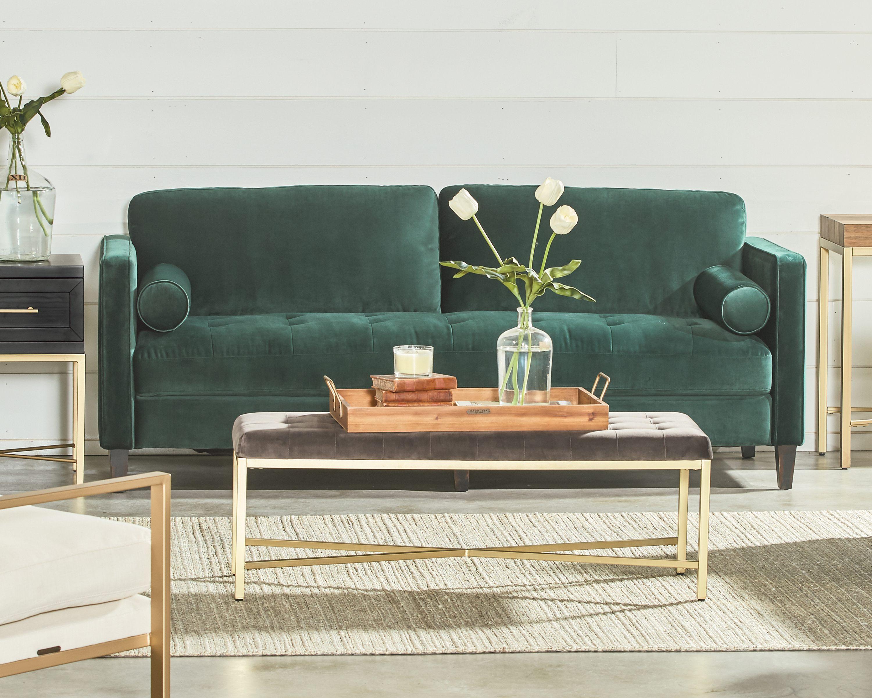 Dapper Sofa – Magnolia Home With Magnolia Home Dapper Fog Sofa Chairs (Image 5 of 25)