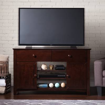 "Darby Home Co Flintwood Tv Stand For Tvs Up To 55"" With Fireplace For Newest Wyatt 68 Inch Tv Stands (Image 6 of 25)"