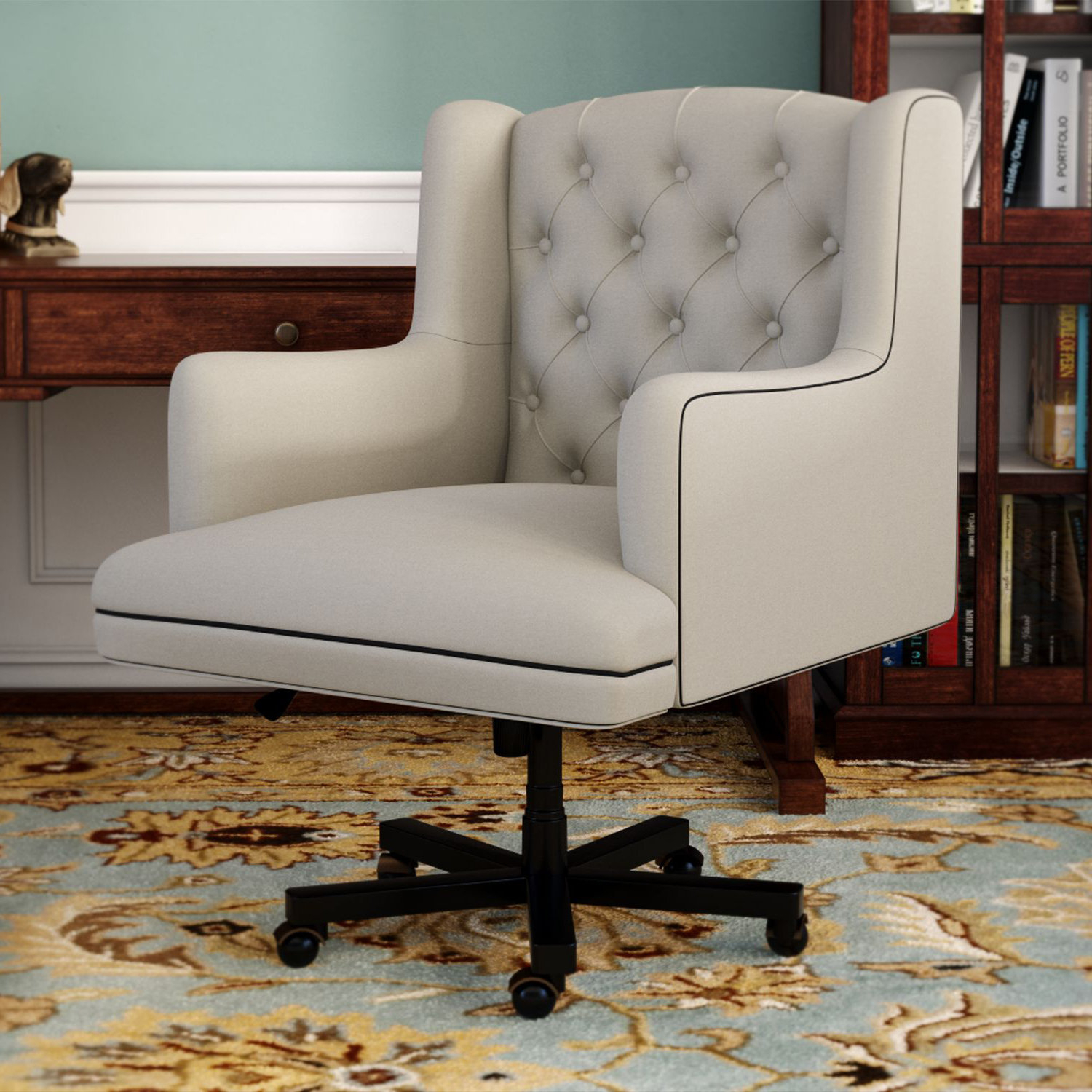 Darby Home Co Nichols Desk Chair & Reviews | Wayfair With Regard To Nichol Swivel Accent Chairs (Image 3 of 25)