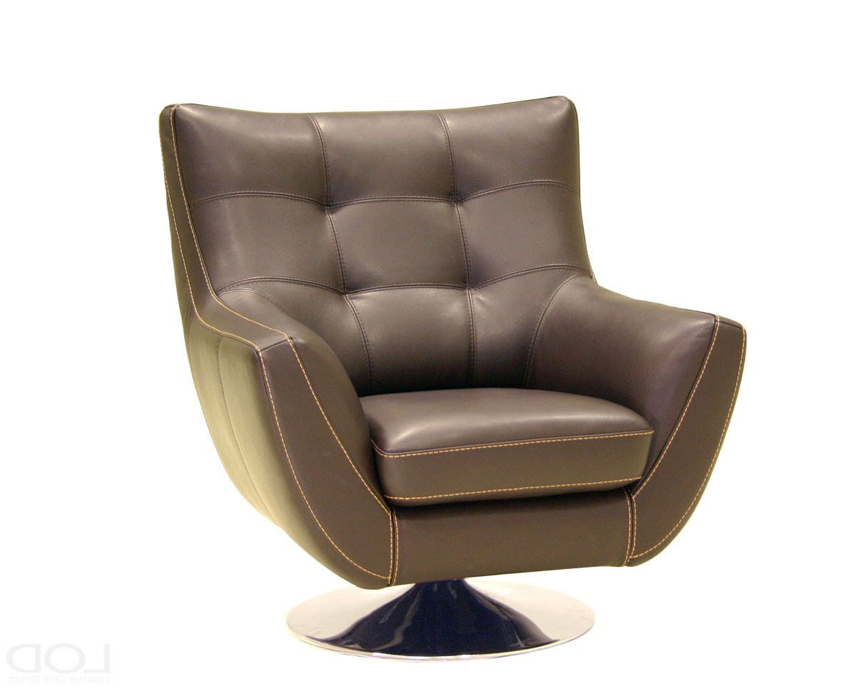 Dark Brown Leather Tufted Swivel Chairs Living Room | Raysa House In Chocolate Brown Leather Tufted Swivel Chairs (View 12 of 25)