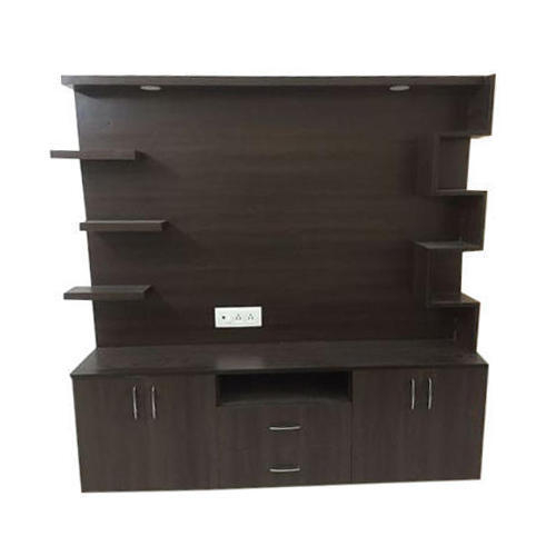 Dark Brown Wooden Led Tv Cabinet, Rs 750 /square Feet, Shakib With Fashionable Led Tv Cabinets (Image 4 of 25)