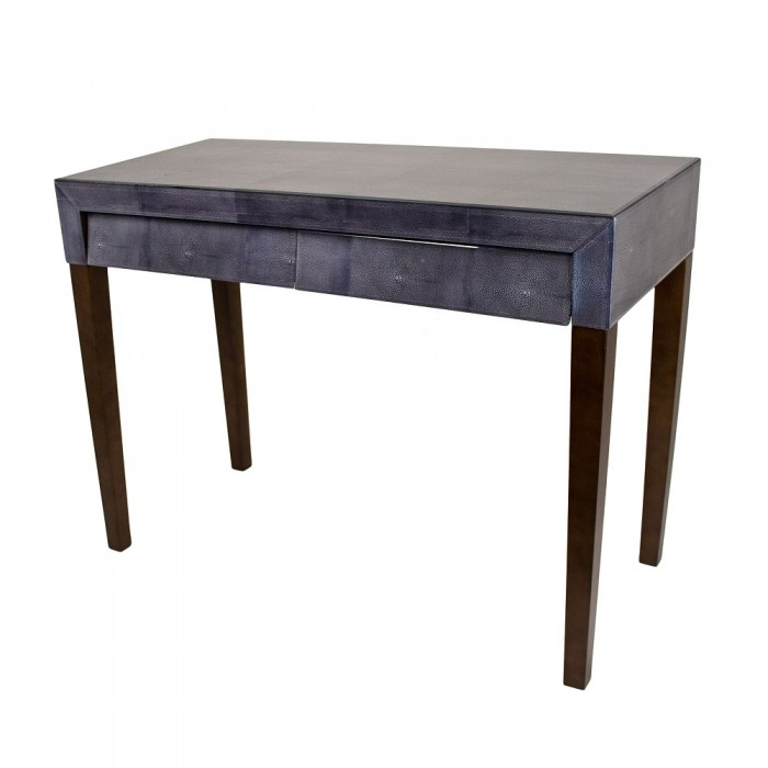 Dark Grey Glass Console Table Shagreen Boutique Hall Console Table With Regard To Most Recent Faux Shagreen Console Tables (View 23 of 25)