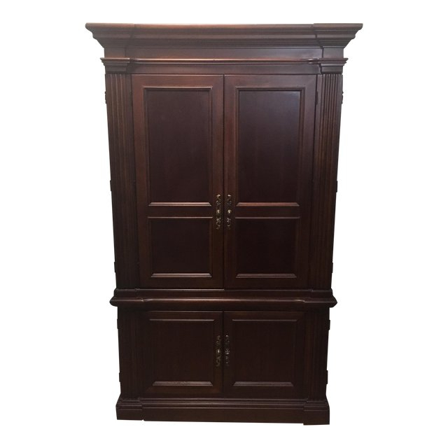 Dark Wood Armoire Dark Wood Tv Armoire regarding Trendy Wood Tv Armoire