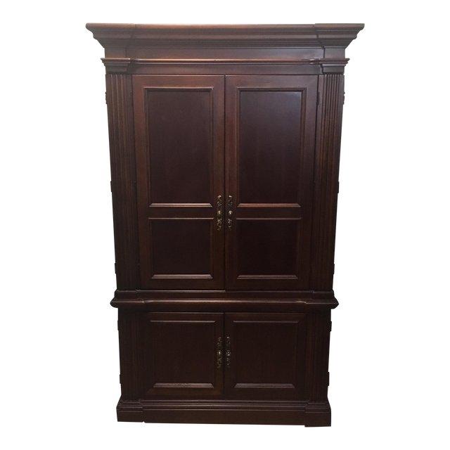 Dark Wood Armoire Dark Wood Tv Armoire Regarding Trendy Wood Tv Armoire (Image 7 of 25)