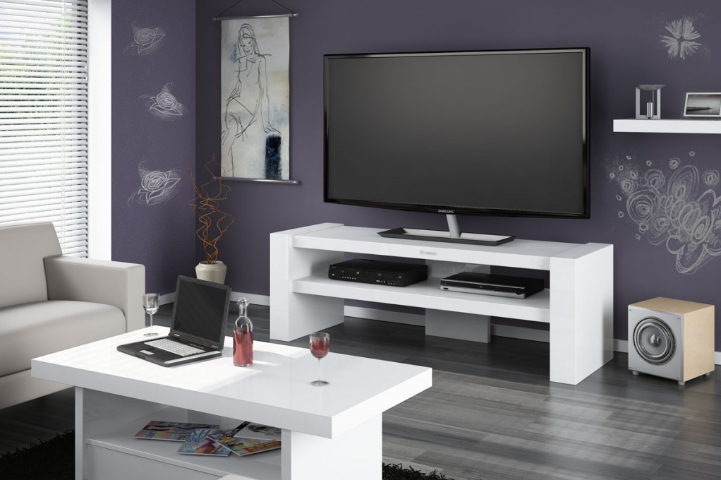 Davos 2 White Tv Cabinets