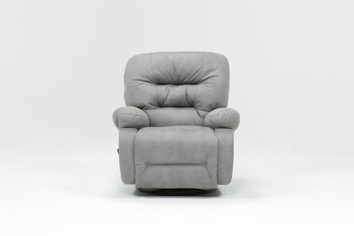 Decker Ii Fabric Swivel Glider Recliner | Living Spaces In Decker Ii Fabric Swivel Rocker Recliners (Image 7 of 25)