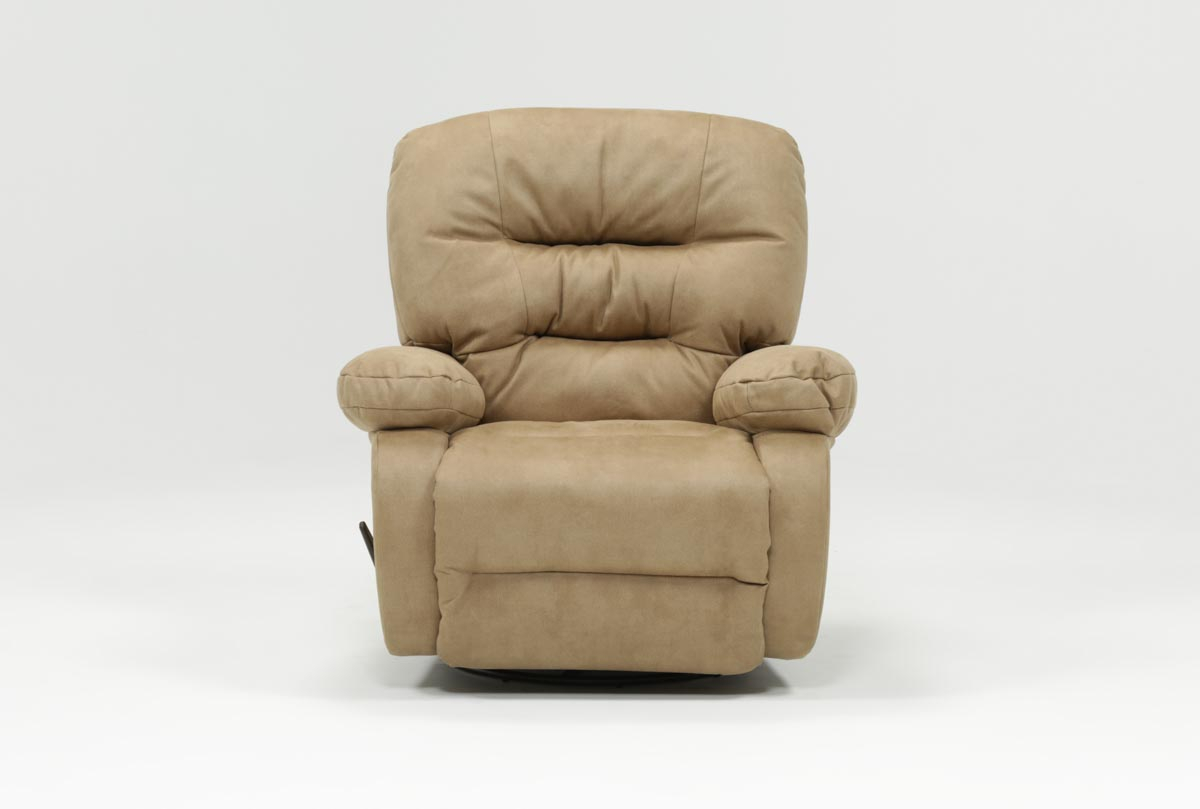 Decker Ii Fabric Swivel Rocker Recliner | Living Spaces Intended For Franco Iii Fabric Swivel Rocker Recliners (View 2 of 25)