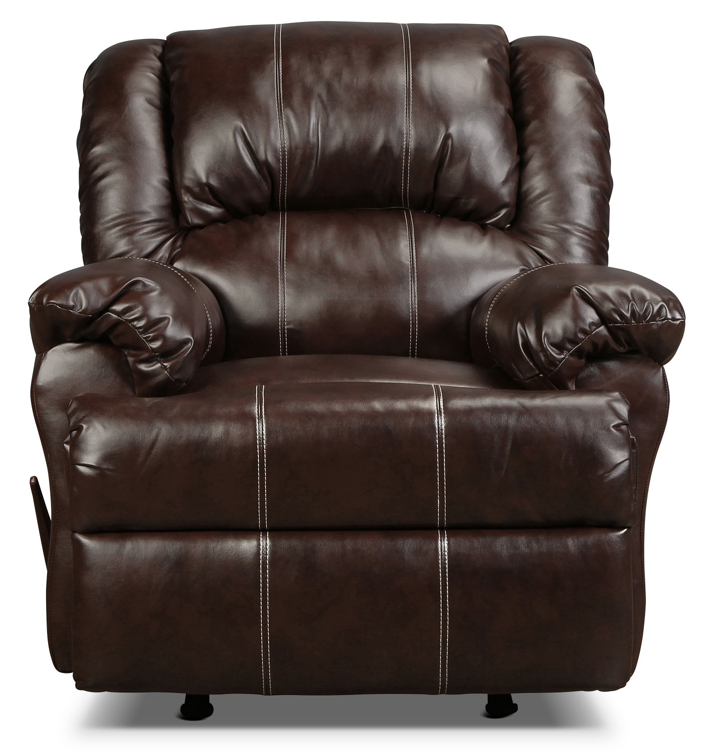 Decker Recliner – Brown | For Decker Ii Fabric Swivel Glider Recliners (Image 4 of 25)