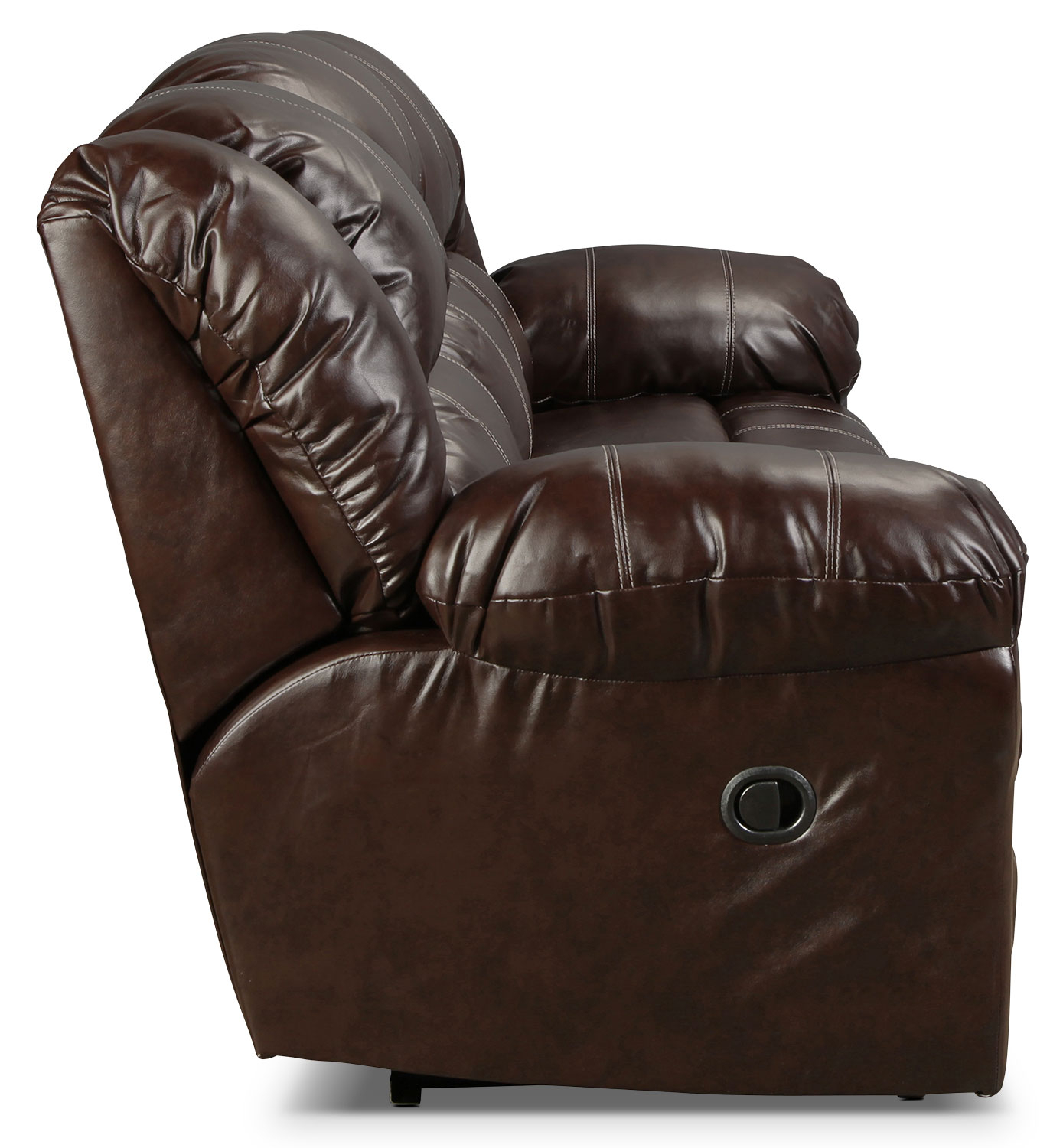 Decker Reclining Sofa – Brown | In Decker Ii Fabric Swivel Rocker Recliners (Image 8 of 25)
