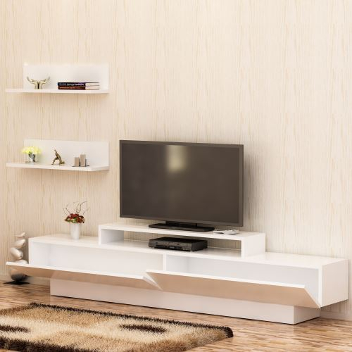 Decorotika Lusi Tv Ünitesi Beyaz – Beyaz (Image 6 of 25)