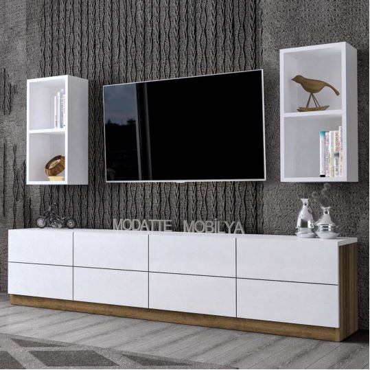 Dekorazon In Widely Used Ducar 74 Inch Tv Stands (Image 7 of 25)