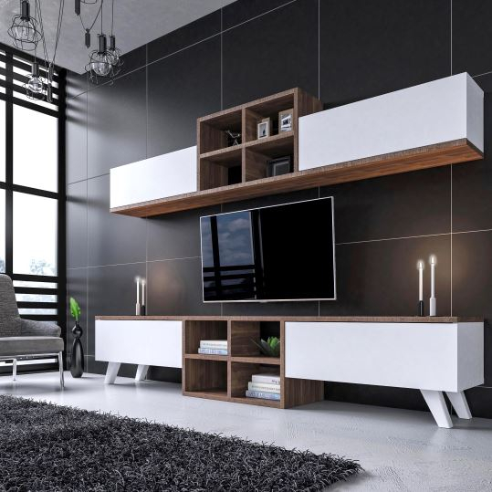 Dekorazon Intended For Most Up To Date Ducar 74 Inch Tv Stands (Image 8 of 25)