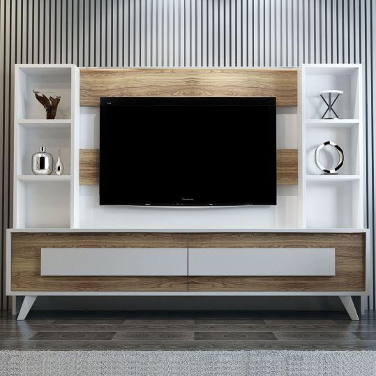 Dekorazon throughout Favorite Ducar 64 Inch Tv Stands