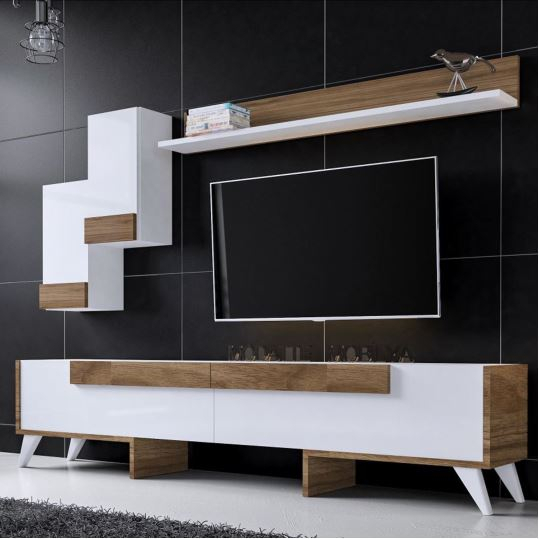 Dekorazon Within Favorite Ducar 64 Inch Tv Stands (Image 6 of 25)