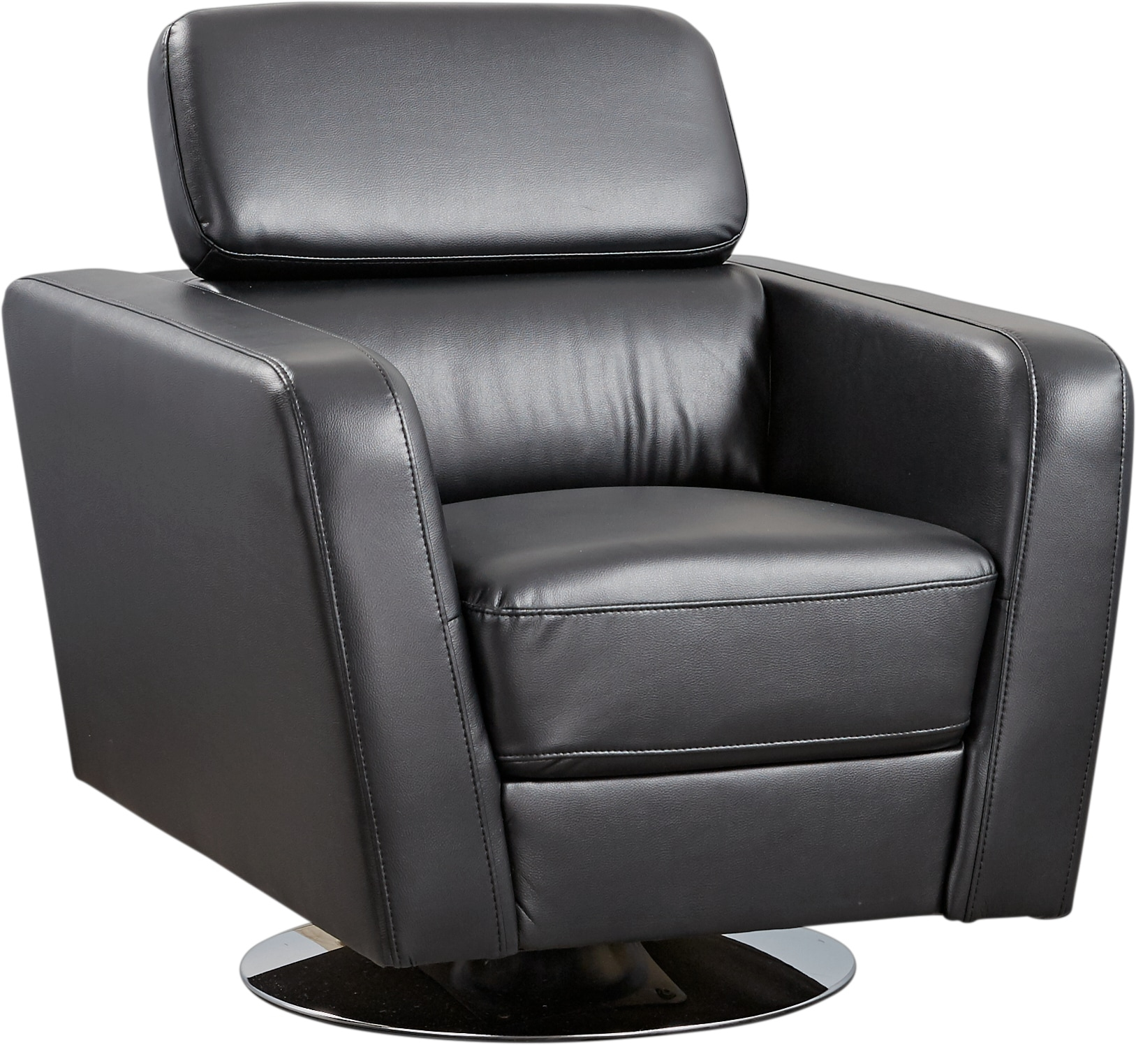 Dellinger Black Swivel Chair – Accent Chairs (Black) Throughout Leather Black Swivel Chairs (View 13 of 25)