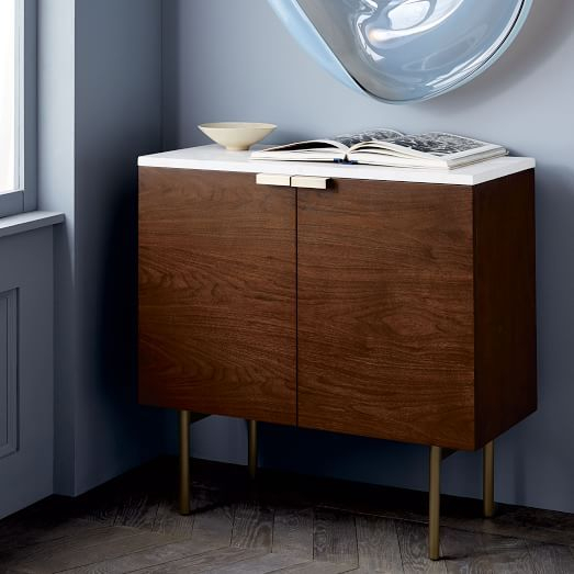"Delphine Entryway Console, 31""w X 14""d X 30""h, Walnut Veneer In An For Best And Newest Scattered Geo Console Tables (Image 15 of 25)"