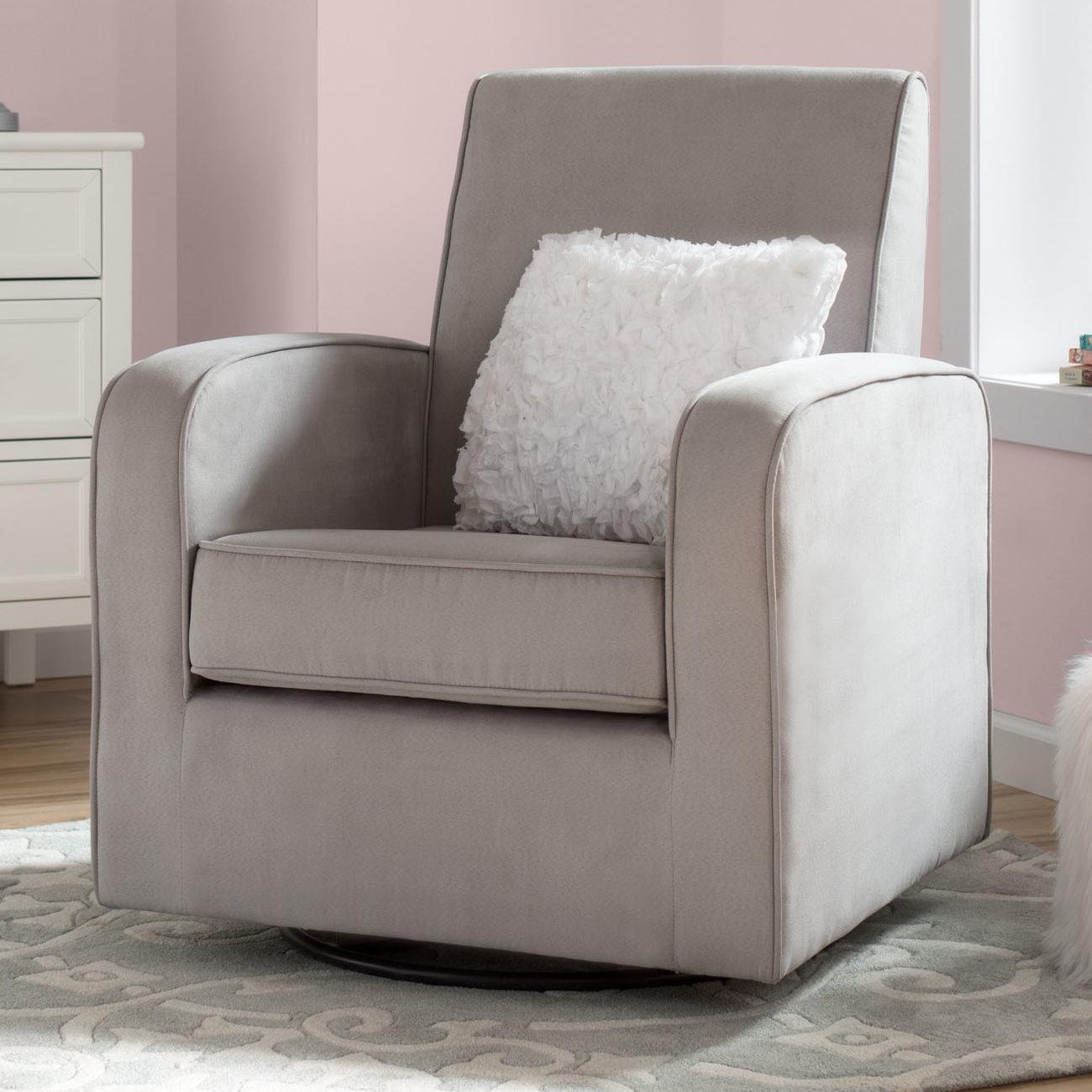 Delta Children Chloe Swivel Glider | Wayfair Regarding Katrina Grey Swivel Glider Chairs (View 8 of 25)