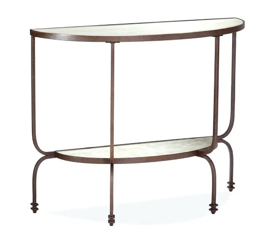 Demilune Console Wall Mounted Console Table Demilune Console Table Inside Well Liked Clairemont Demilune Console Tables (Image 11 of 25)