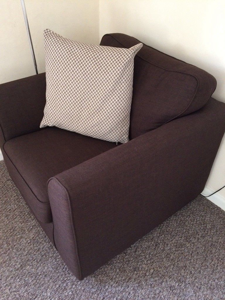 Dfs Brown Arm Chair, Only A Year Old And Never Really Been Used Throughout Devon Ii Arm Sofa Chairs (Image 11 of 25)