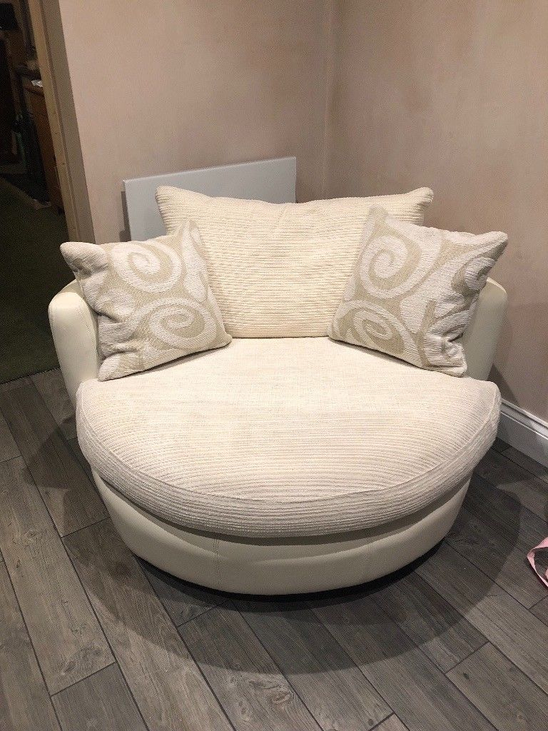 Dfs White Cuddler Swivel Chair | In Chalfont St Peter intended for Gibson Swivel Cuddler Chairs