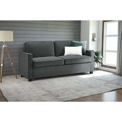 Dhp Casey Queen Size Grey Velvet Sleeper Sofa 2155457 – The Home Depot Pertaining To Current Casey Grey 54 Inch Tv Stands (View 9 of 25)