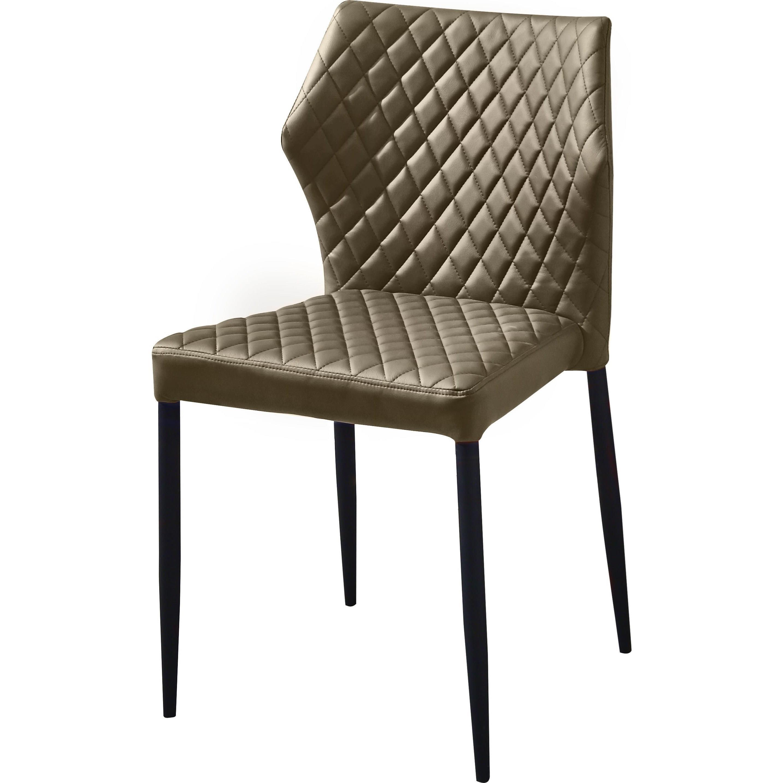 Diamond Sofa Milo Dining Chair With Tufted Leatherette | Boulevard Regarding Milo Sofa Chairs (Image 7 of 25)