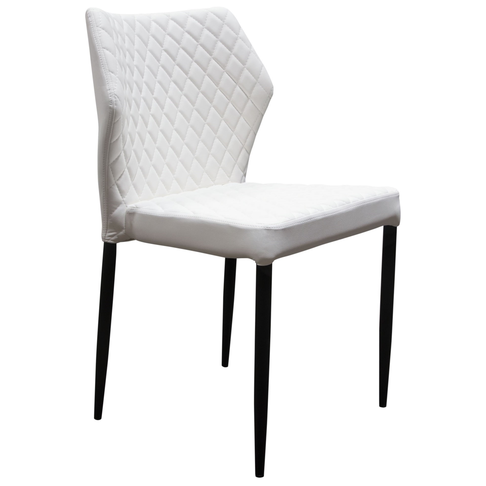 Diamond Sofa Milo Set Of Four Dining Side Chairs | Red Knot | Dining Throughout Milo Sofa Chairs (Image 8 of 25)