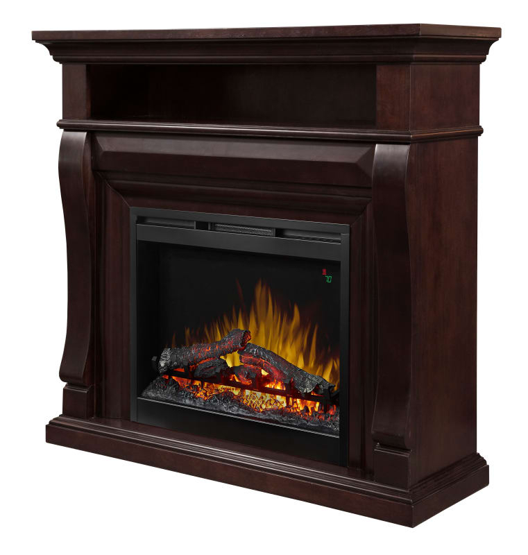 Dimplex Dfp26L5 1881 Noah Mantle 5118 Btu 46 Inch Wide Free Standing Pertaining To Preferred Noah 75 Inch Tv Stands (Image 8 of 25)