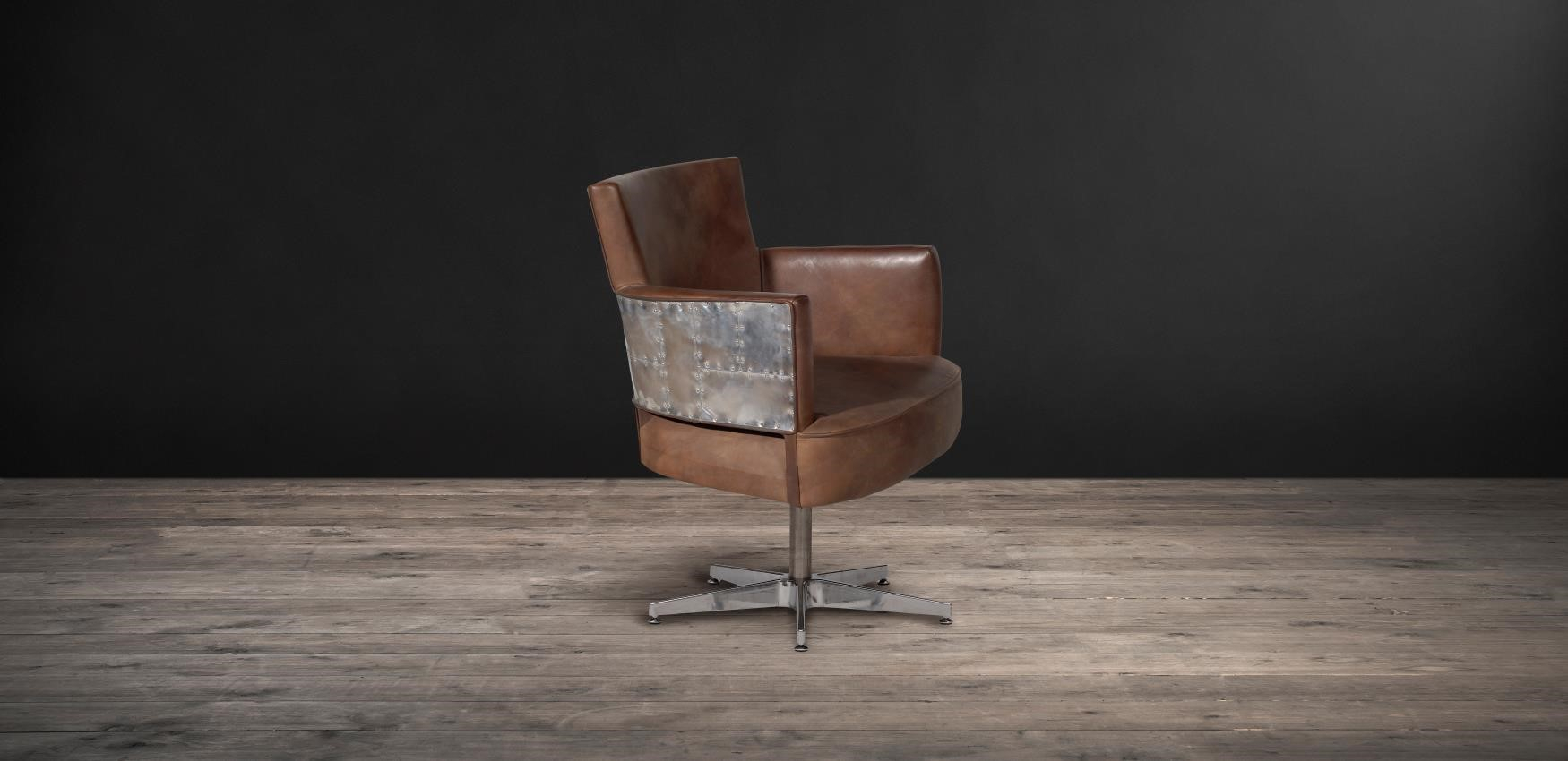 Dining & Desk Chairs – Swinderby Swivel | Timothy Oulton Regarding Swivel Tobacco Leather Chairs (View 22 of 25)