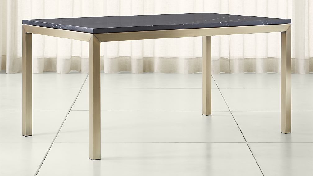 Dining Tables For 2018 Parsons Black Marble Top & Brass Base 48X16 Console Tables (Image 13 of 25)