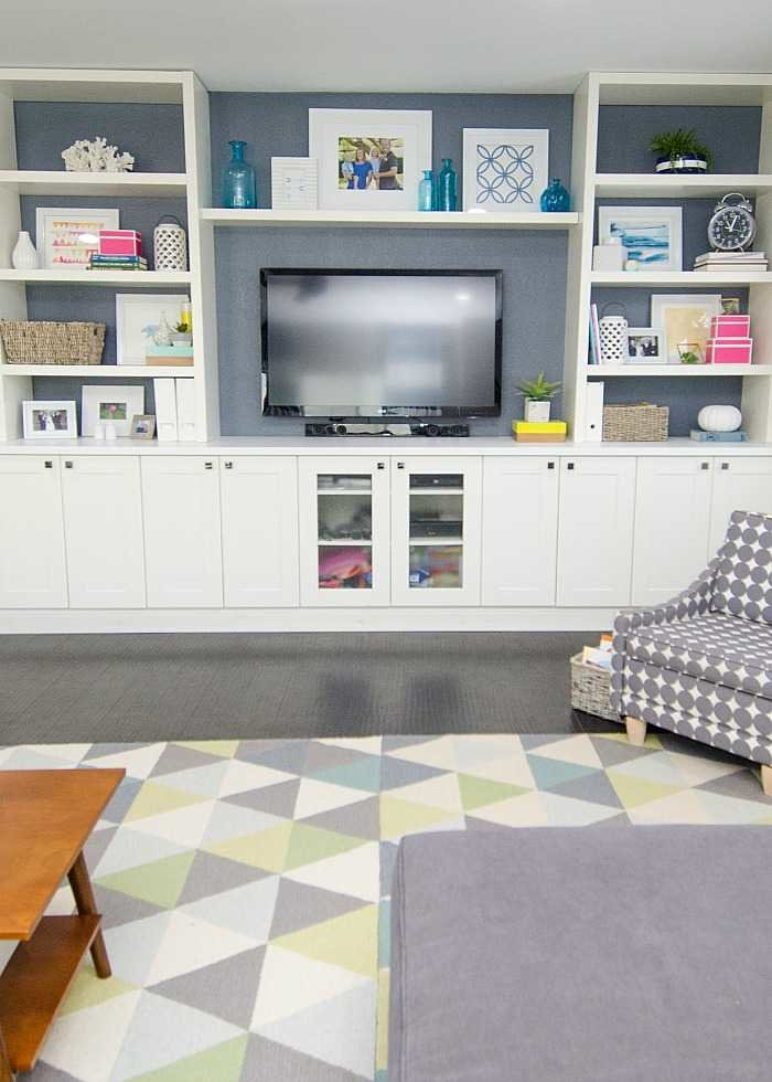 Diy Built In Using Ikea Cabinets And Shelves Regarding Fashionable Ikea Built In Tv Cabinets (Image 5 of 25)