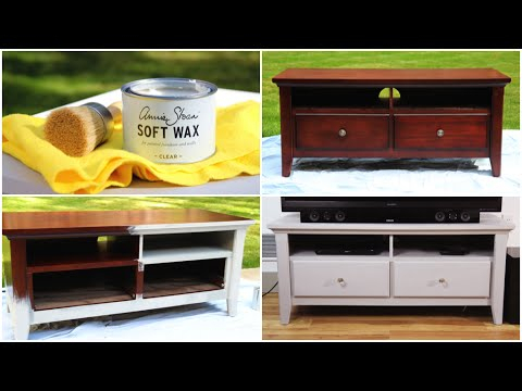 Diy Chalk Paint Furniture Makeover - Youtube pertaining to Trendy White Painted Tv Cabinets