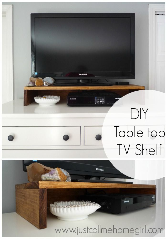 Diy Tabletop Tv Stand (Image 8 of 25)