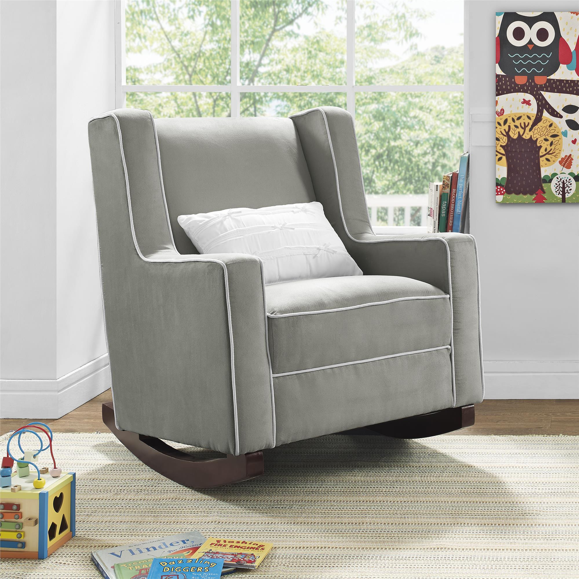 Dorel Living | Baby Relax Abby Rocker, Gray throughout Abbey Swivel Glider Recliners
