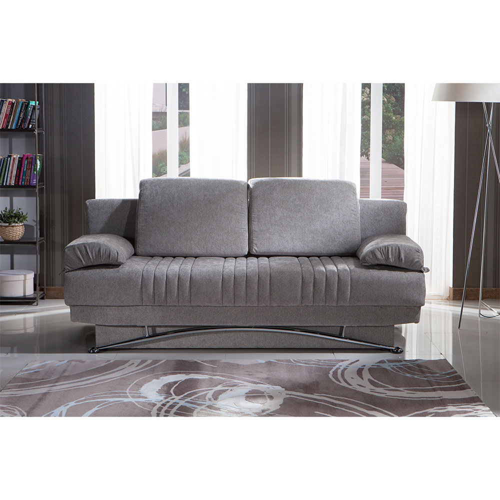 Dream Queen Sofa Sleeperital Contempo(Dark Grey, Light Grey Inside Allie Dark Grey Sofa Chairs (Image 13 of 25)