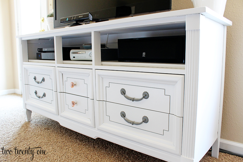 Dresser Turned Tv Stand – Two Twenty One Intended For Favorite Sideboard Tv Stands (Image 7 of 25)