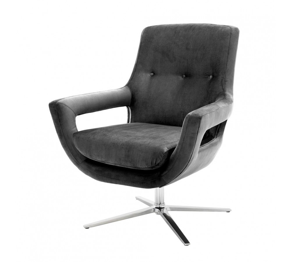 Eichholtz Flavio Swivel Chair | Eichholtz Armchair – Design Icons Regarding Grey Swivel Chairs (Photo 6 of 25)