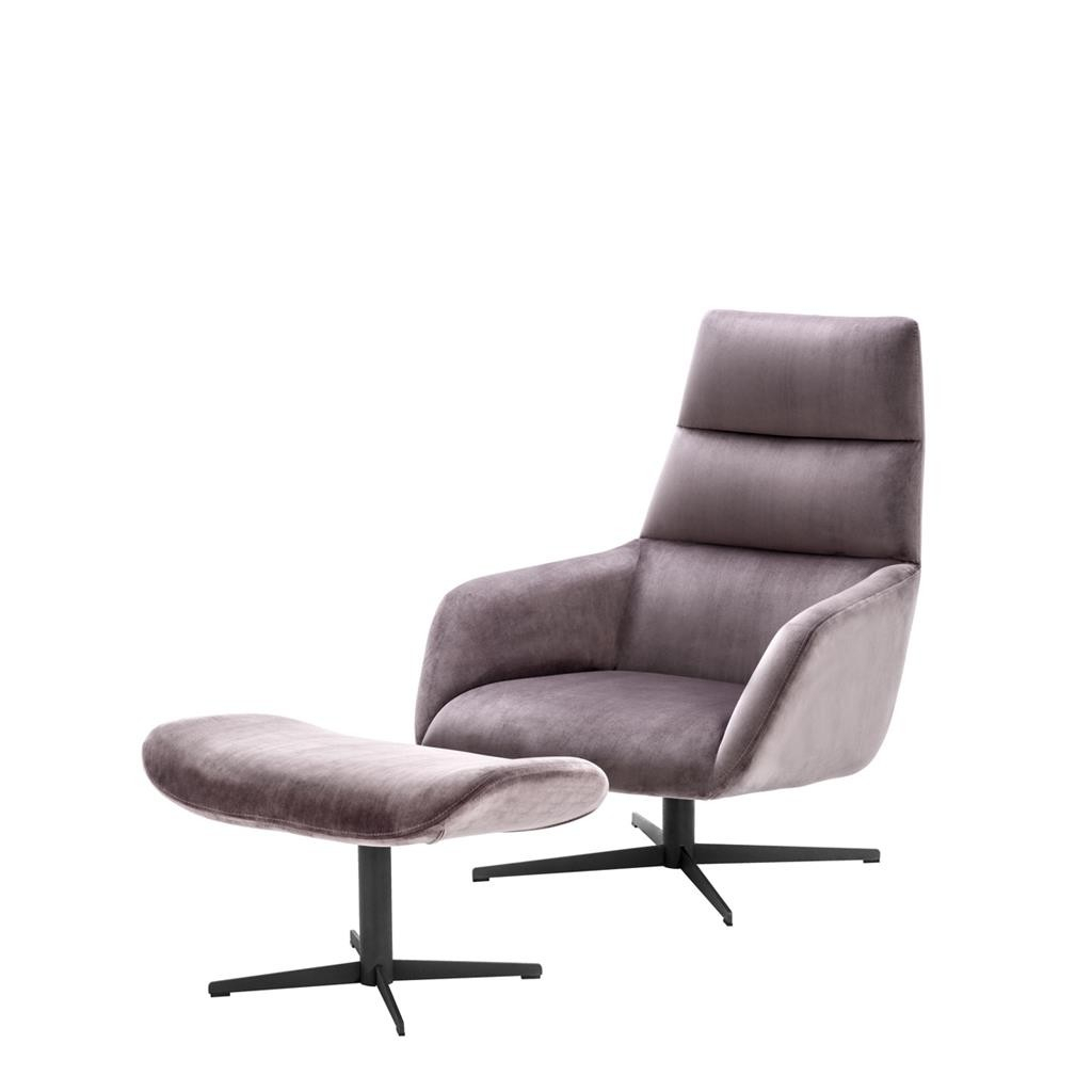 Eichholtz Swivel Chair & Ottoman Nautilus | Pavilion Broadway With Regard To Theo Ii Swivel Chairs (Image 5 of 25)